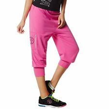 Zumba Fitness Women's Chill the Funk Out Capri Pants Pin A Rose Pink Sz Medium