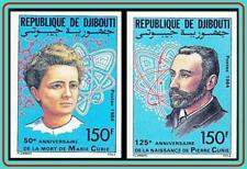 DJIBOUTI 1984 MARIE & PIERRE CURIE imperf. MNH CV$32.00 CHEMISTRY, NOBEL, ATOM