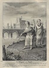 Stackhouse Bible - THE PLAGUE OF FROGS - Antique Copper Engraving - 1752