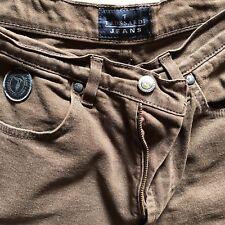 Jeans Donna Originale Trussardi Vintage Marrone 31 45 Vita Alta Anni 90