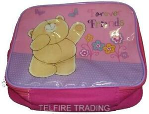 FOREVER FRIENDS BEAR INSULATED LUNCH BAG CHILDS KIDS NURSERY SCHOOL PICNICS NEW