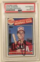 1985 Topps USA MARK MCGWIRE Signed Autographed Baseball Card #401 PSADNA A's