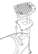 Herraje Givi SR92M para baul sistema monolock KYMCO SUPERDINK 300 2010-
