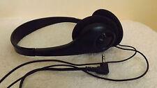 BLACK Lightweight Black Stereo Headphones
