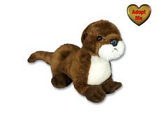 Aurora River Otter Sliddy 9in Stuffed Plush Beanie Wild Animal Toy