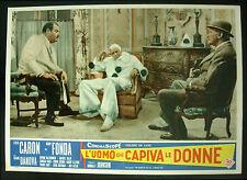 CINEMA-fotobusta L'UOMO CHE CAPIVA LE DONNE fonda, caron, JOHNSON