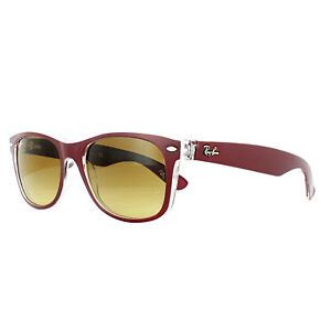 Ray-Ban Sunglasses New Wayfarer 2132 605485 Red Transparent Brown Gradient Small
