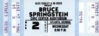BRUCE SPRINGSTEEN 1977 LAWSUIT DRAGS ON TOUR UNUSED CONCERT TICKET-BLUE-ATLANTA