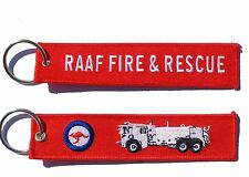 RAAF Fire and Rescue Oshkosh P4 Key Ring Key Tag Luggage Tag Zipper Pull