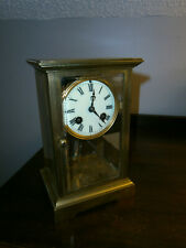 Antique Perfect Cond & Runs Great Japy Freres Crystal Regulator Clock