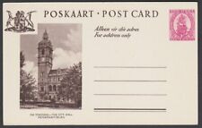 SOUTH AFRICA 1d Ship pictorial postcard - City Hall - unused................R461