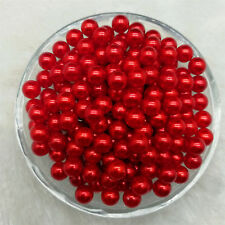 4 / 6 / 8 /10mm No Hole Acrylic Round Pearl Loose Beads Jewelry Making MG