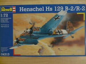 Maquette Avion 1/72 Revell Ref 04313 Henschel Hs 129B-2/R2