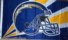 SAN DIEGO CHARGERS HELMET NFL LICENSED NEW 3x5 ft FLAG