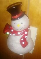Vintage Christmas Frosty Snowman Night Light Shade Type C Bulb w/ Universal Plug
