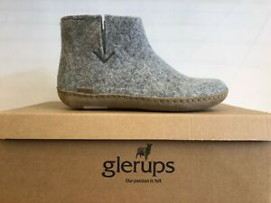 Glerups Grey Slippers 100 % Pure And Natural Wool Boots for Women
