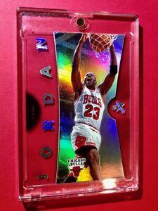 Michael Jordan RARE FLEER EX ACETATE REFRACTOR SPECIAL PREMIUM CARD #4 - Mint!