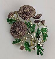 Exquisite Birthday Brooch - November Chrysanthemum Flower - Vintage