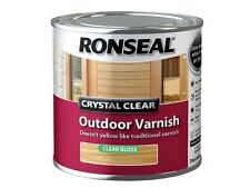 Ronseal - Crystal Clear Outdoor Varnish Matt 250ml
