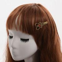 Vintage Steampunk Hair Pin Alloy Scissor Hairpin Fancy Props Retro Hair Clip