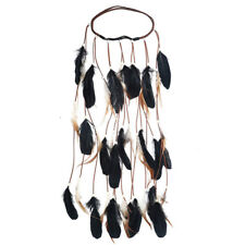 Feather Hairband Rope Crown 2018 Boho White Elastic Gypsy Festival Head Band