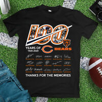 100 YEARS OF CHICAGO BEARS, THANK FOR THE MEMORIES UNISEX BLACK SHIRT