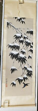 Antique Vintage Modern SIgned Seals Japanese Scroll Painting Bamboo Winter