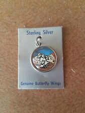 Authentic Sterling Silver Charm Mount Rushmore made with genuine Butterfly Wings