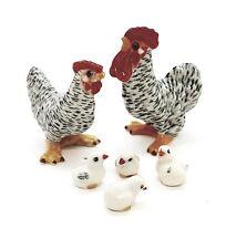 Family Chicken Ceramic Seasoning Salt Pepper Spice Sugar Handmade Decor