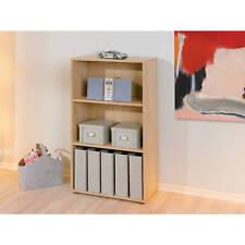 Etagère bibliothèque meuble de rangement de salle de bain ou de bureau CHÊNE