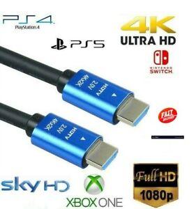 Premium Ultrahd Cable HDMI Alta Velocidad 4K 2160p 3D 0.5m/ 1m/ 2m/ 3M/ 4m/ 5m/