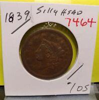 1839 Coronet Head Large Cent 7464