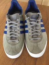 Adidas Gazelle Size 9 Grey Trainers Blue Stripes
