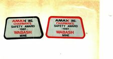 New listing Set Of 2 Nice Chairmans Safety Award Amax Coal Co. Coal Mining Stickers # 1408