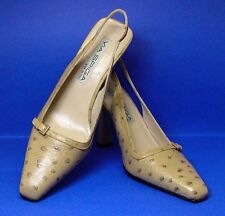 "VIA SPIGA MADE IN ITALY 8.5 M ALL LEATHER SLINGBACKS 3.5"" PUMPS PRISTINE COND."