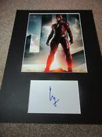 Ezra Miller autograph - signed card - Justice League - Fantastic Beasts