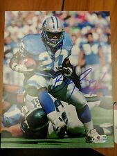 Barry Sanders Signed Autographed 8x10 Photo Lions Vintage Global Authentics COA