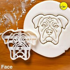 Boxer face Cookie Cutter | mignon Chien Pet molosser TRAITE Vet Rescue adopter C...