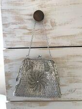 White vintage beaded purse handbag