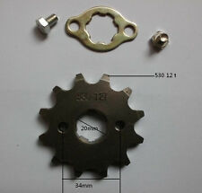 Front 12 t 20mm engine sprocket for 530 chain motorcycle dirt pit ATV bike parts