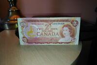 1974 $2 Dollar Bank of Canada Banknote AGK5156328
