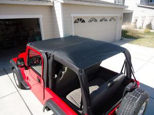 1997-2006 Jeep Wrangler Safari Extended Bikini Top in Black
