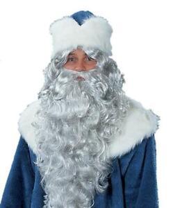 Santa Father Frost Beard Headband Grey Christmas
