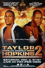 BERNARD HOPKINS vs. JERMAIN TAYLOR (2) : Original Full-Size HBO Boxing Poster