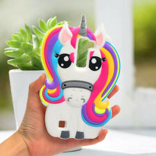 White Cute Unicorn Horse 3D Phone Case Shell Cover Silicone Soft For LG K7/Q7/K8