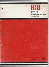 Original Case Model 107 Compact Tractor Parts Catalog # A1192 dated June 1975