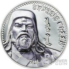 GENGHIS KHAN Chinghis Chinggis Khaan Silver Coin 1000 Togrog Mongolia 2016