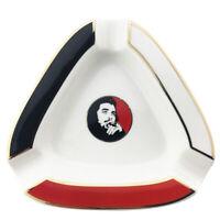 Guevara 3 Cigars Holder Ceramic cigar Cigarette Ashtray with triangle Holder