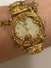 Kirks Folly Ladies Goldtone  Angel Time Dream/Believe, 15th Anniversary Watch