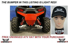 LIGHT RED Axiom Side by side Polaris RZR 900 & S 1000 Rear Bumper